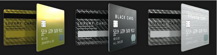 かっこいい クレジットカード ラグジュアリーカード 3種類