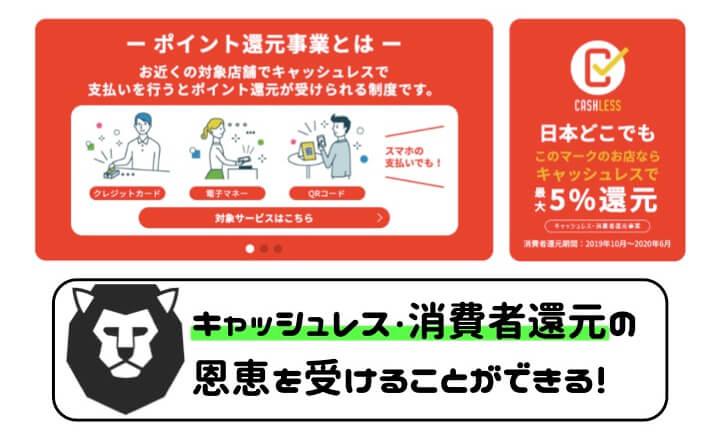 クレジットカード おすすめ キャッシュレス・消費者還元事業