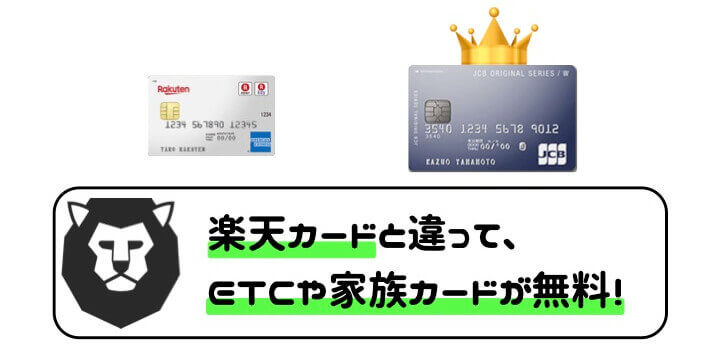 JCB CARD W ETCカード 家族カード