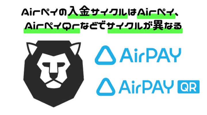 AirPAY 導入 入金サイクル