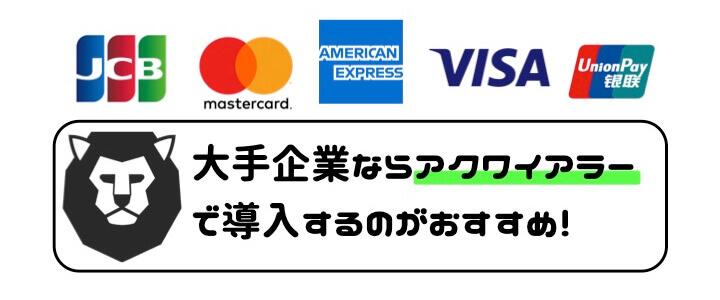 クレジットカード 手数料 比較 アクワイアラー