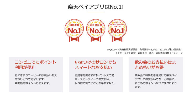 楽天ペイ アプリ実績No.1