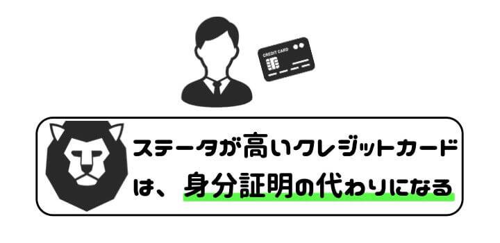 ステータス 高い クレジットカード 海外 身分証明