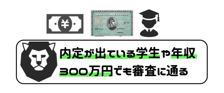 アメックスグリーン 口コミ 評判 審査 年収 内定者