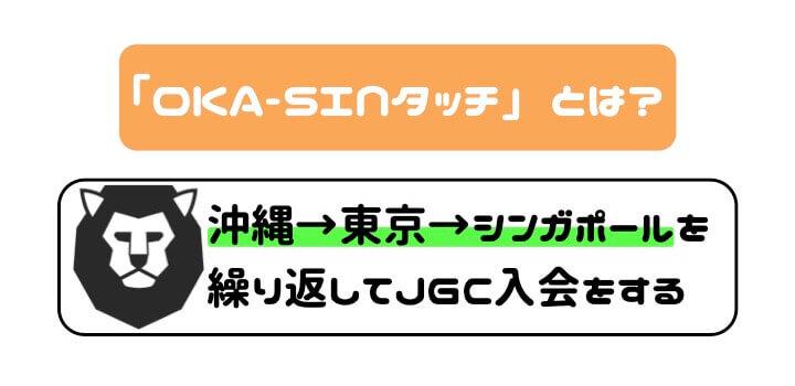 JGC修行 OKA-SINタッチ