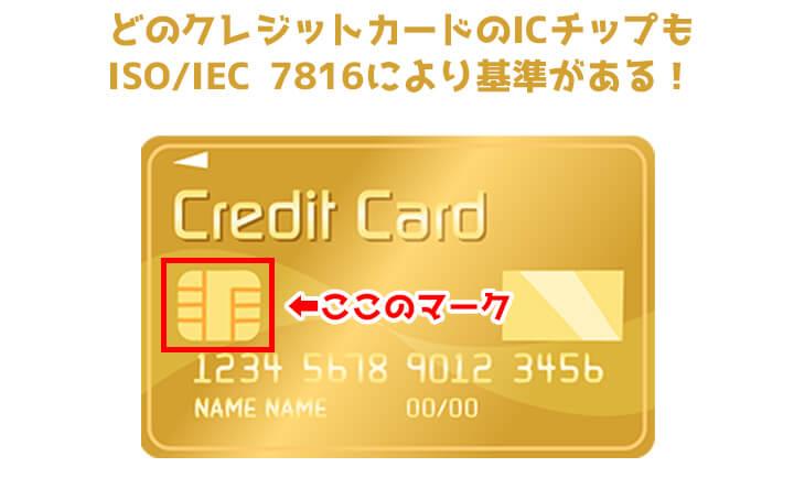 クレジットカード サイズ ICチップ 国際規格
